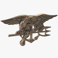 3d model navy seals insignia