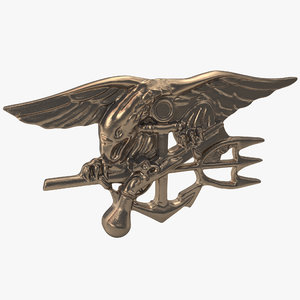3d model navy seals insignia