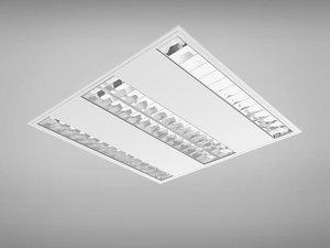 raster lamps office light set 3d 3ds