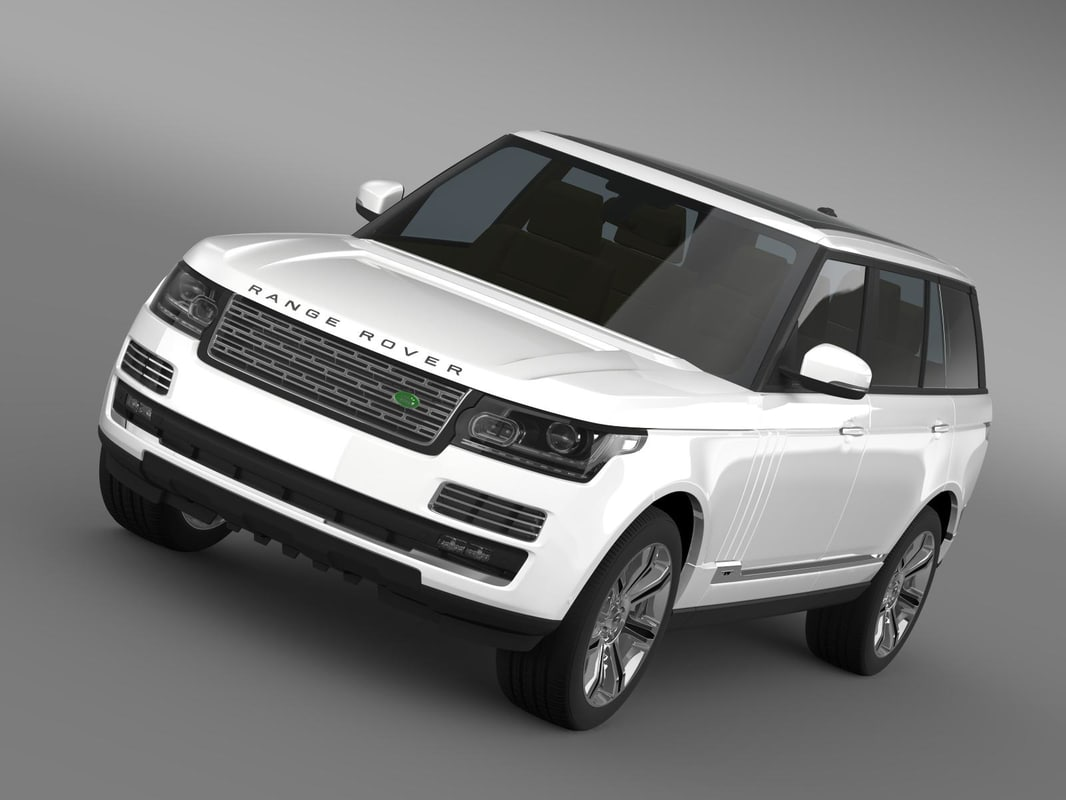 range rover autobiography black 3d model