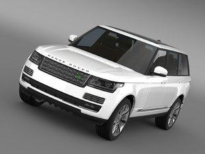 range rover autobiography black 3d model