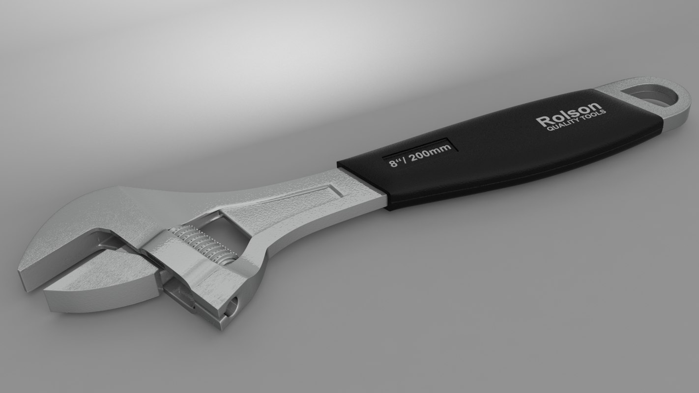 rolson 200mm adjustable wrench x