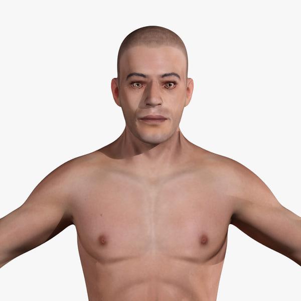 human anatomy male body skin 3d dxf