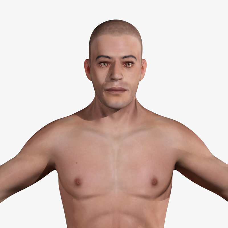 Human Anatomy Male Body Skin 3d Dxf