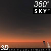 Sky 3D Sunset 022