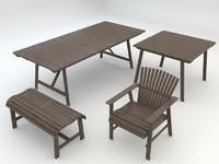 sundero outdoor table 3d max