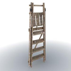 wooden ladder 3d max