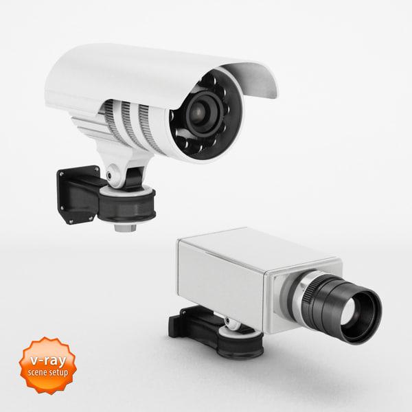 security camera obj