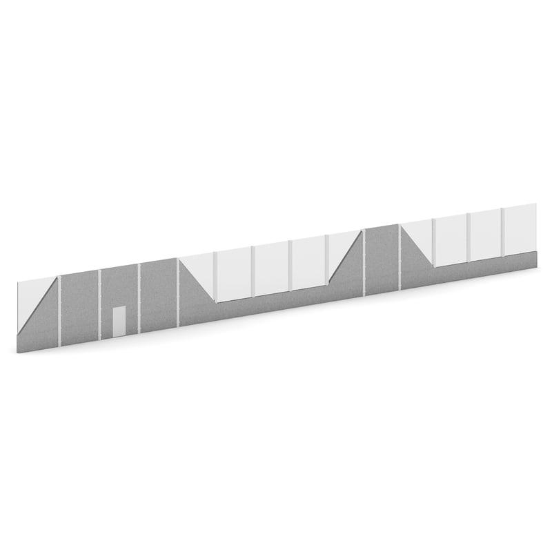 3d highway acoustic barrier model