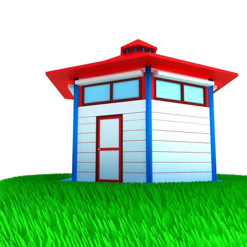 small house scene max