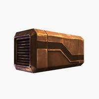 sci-fi container 4 rusty max