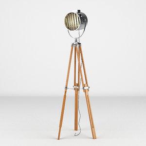 3d lamp light studio model