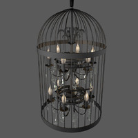 3d max vintage finch ceiling lamp