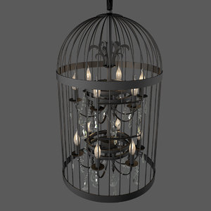 vintage finch ceiling lamp 3d max