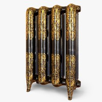 ornate antigue radiator 3d model