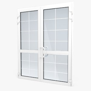 modern pvc door 2 3d model