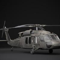 uh-60 blackhawk 3d blend