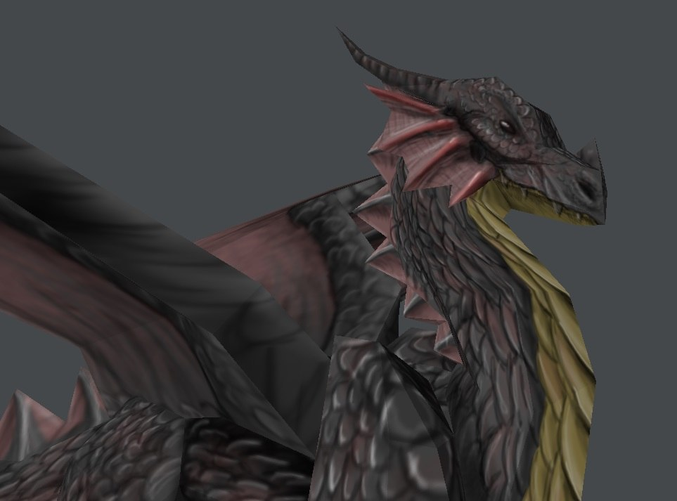 3d model black dragon