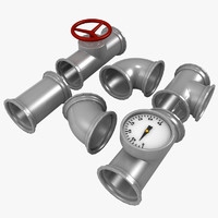 free obj model pipe fitting