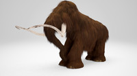 mammoth animation modelled 3d max
