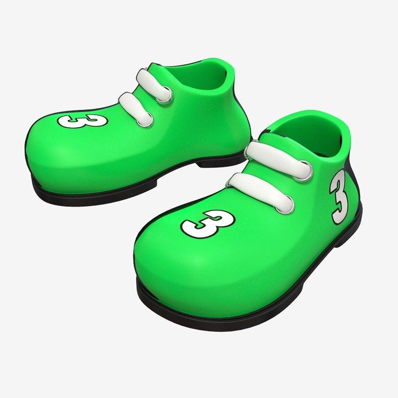 cartoon shoe 3d obj