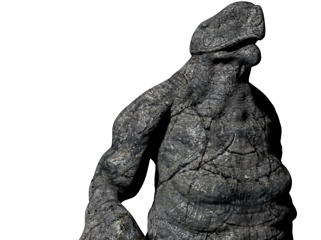 3d model monster rock