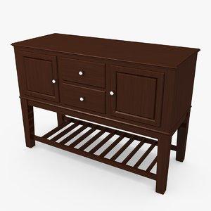 max wood sideboard table