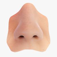 3d model realistic human nose