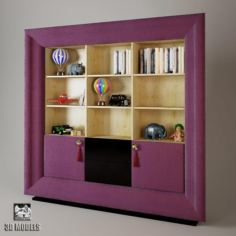 bookcase exclusive 3d model
