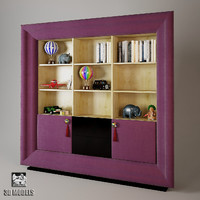 bookcase exclusive 3d model