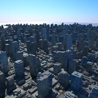 cityscape scene 3d max