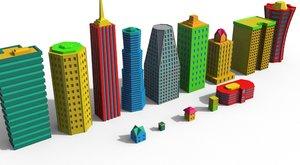 3d model cartoon building
