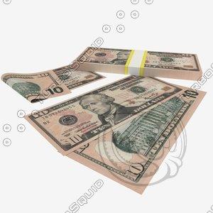 maya 10 dollars banknote