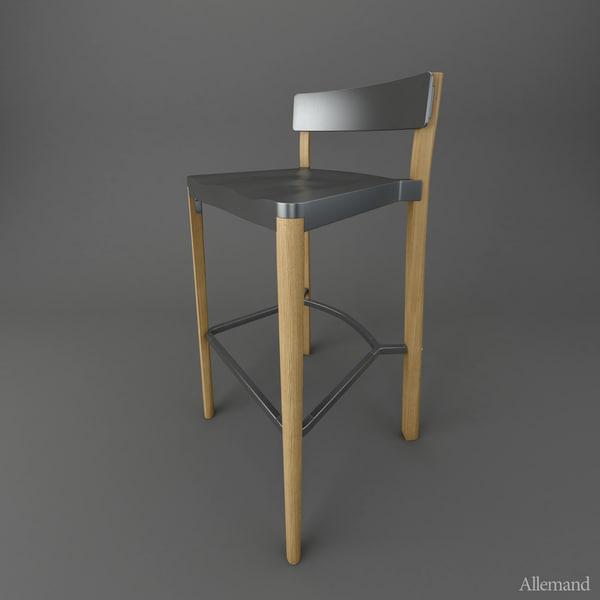 3d emeco lancaster barstool model