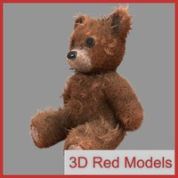 3d old teddy bear model