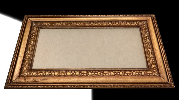 old painting frame 3d model