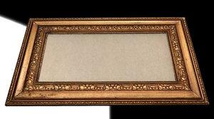 old painting frame 3d model