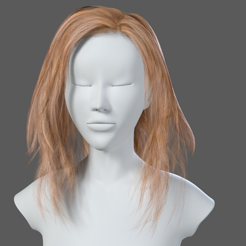3ds woman hairstyle