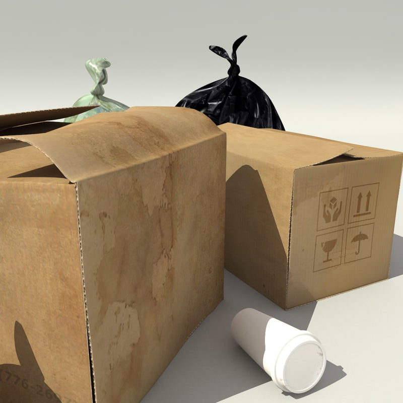 3ds max garbage bags