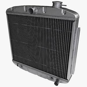 car radiator 3d max