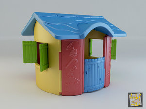 3d model toy house