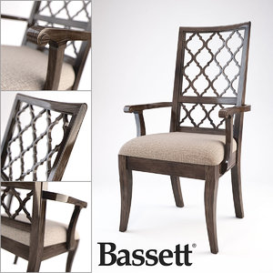 bassett emporium arm chair 3d max