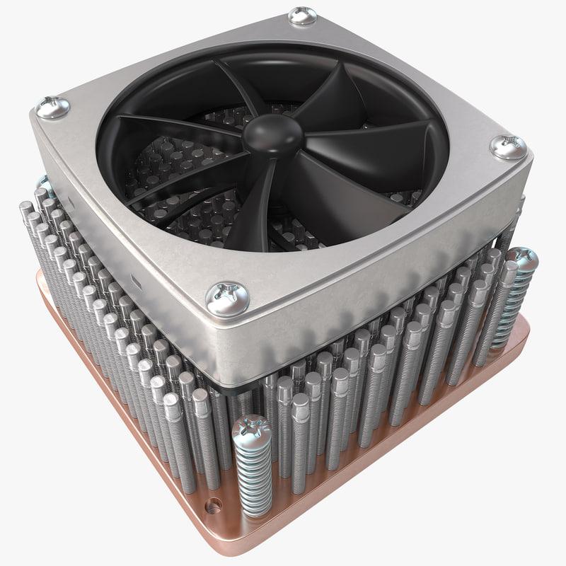 3d heatsink fan model