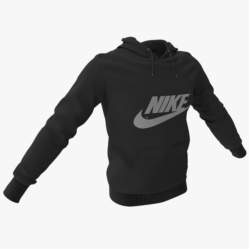 3d hooded sweatshirt model