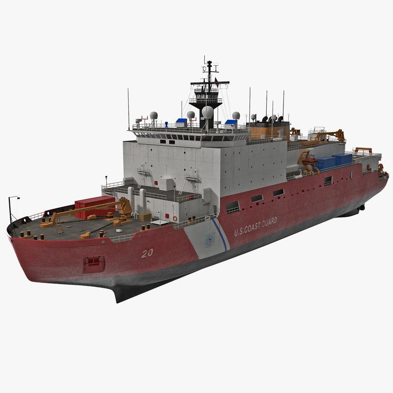 3d model icebreaker wagb-20