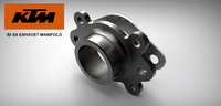 3ds exhaust manifold ktm 50