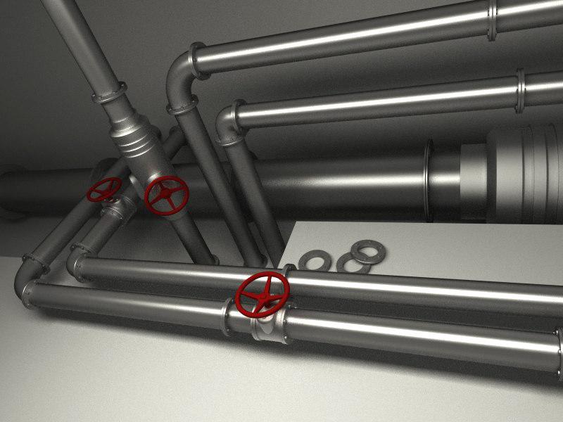 industrial valve pipe 3d obj