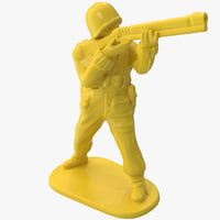 3d plastic army men 2 model