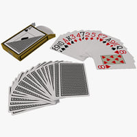 3d playing cards set model