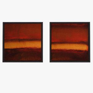 modern art canvas inset 3d max